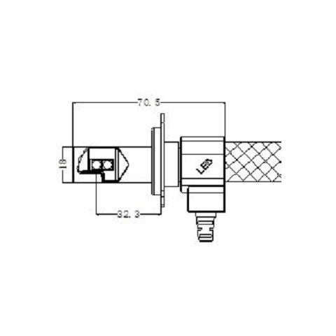 Набор светодиодного головного света UP-G5-H4HL-CR-3000lm (H4, 3000 лм, холодный белый) Превью 4