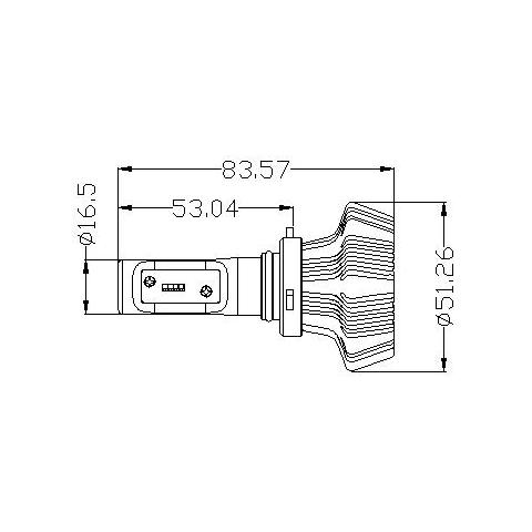 Набір світлодіодного головного світла UP-7HL-H10W-4000Lm (H10, 4000 лм, холодний білий) Прев'ю 4