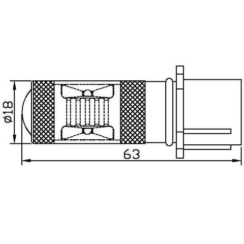 LED Fog Light UP-7G-PSX26WB-30W (white, 12-24 V) Preview 1