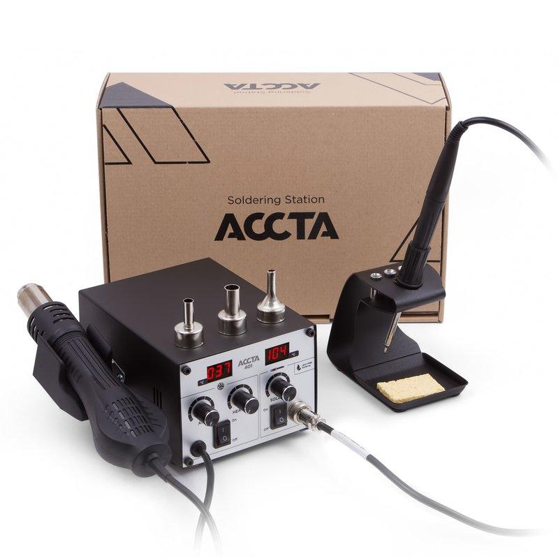 Термоповітряна паяльна станція Accta 401 Зображення 7